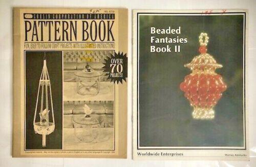 Lot 2 Vintage Bead Beading Patterns Beaded Fantasies II & Cousin Pattern Books