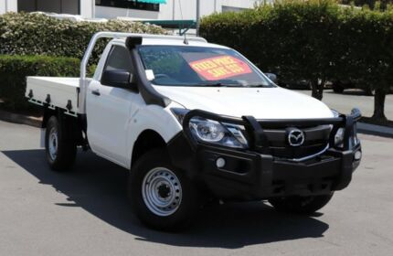 2017 Mazda BT-50 UR0YG1 XT Cool White 6 Speed Sports Automatic Cab Chassis Acacia Ridge Brisbane South West Preview