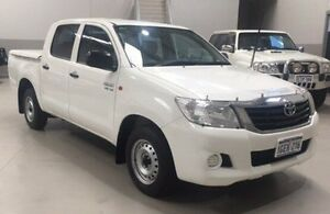 2013 Toyota Hilux GGN15R MY12 SR Double Cab White 5 Speed Automatic Utility Kenwick Gosnells Area Preview