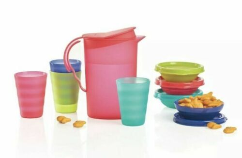 Tupperware Tuppertoys Impressions Kids Mini Party Set - NEW - Tumblers Pitcher