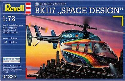 KIT REVELL 1:72 DA MONTARE ELICOTTERO EUROCOPTER BK117 SPACE DESIGN ART 04833