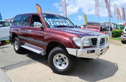 1998 Toyota Landcruiser FZJ105R GXL Maroon 4 Speed Automatic Wagon Woodridge Logan Area Preview