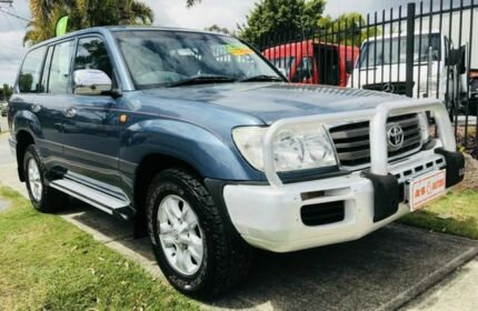 2006 Toyota Landcruiser UZJ100R Upgrade II GXL (4x4) Blue 5 Speed Automatic Wagon Springwood Logan Area Preview