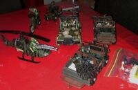 Army toy jeeps and men