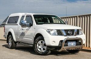2011 Nissan Navara D40 MY11 ST-X King Cab White 6 Speed Manual Cab Chassis Wangara Wanneroo Area Preview