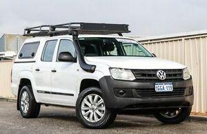 2013 Volkswagen Amarok 2H MY13 TDI400 4Mot White 6 Speed Manual Utility Wangara Wanneroo Area Preview