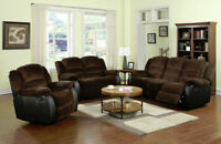 2PC Padded Micro-suede Fabic Reclining Sofa Set $1298