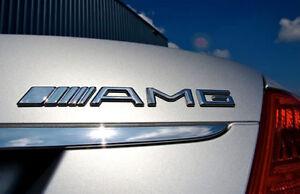 AMG Mercedes Benz Car Sticker NEW Chrome 3D Emblem Badge Decal USA Free Shipping