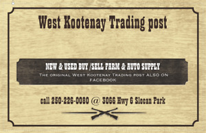 West Kootenay Trading Post liquidators