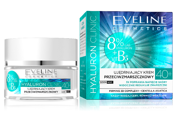 Eveline HYALURON CLINIC B5 Firming Anti - Wrinkle Face Cream 40+ Day/Night 50ml