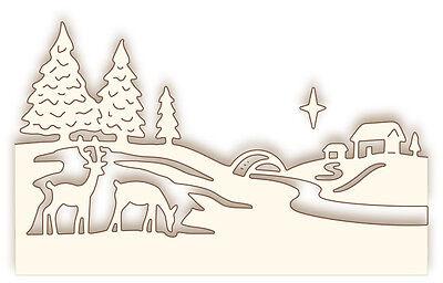 Wild Rose Stanzschablone Studio`s Specialty die - Christmas scene 360061