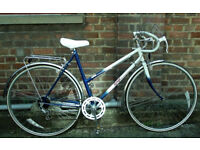 Vintage racing ladies bike RALEIGH TOPAZ hand built frame size 20in - 5 speed NEW TYRES , serviced