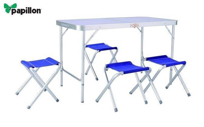 Tavoli E Sedie Da Campeggio Pieghevoli.Set Picnic Pieghevole A Valigetta Con Tavolo E 4 Sedie Da Pic Nic