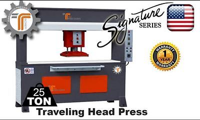 New Cjrtec 25 Ton Traveling Head Clicker Press Hydraulic Cutting Machine