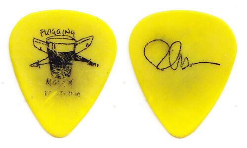 Flogging Molly Bob Schmidt Signature Concert-Used Yellow Guitar Pick - 2011 Tour