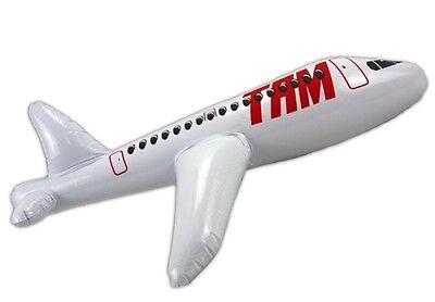 Flugzeug groß aufblasbar avion plane aeronave aereo grande ca. 60 cm lang