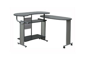 New Star Quality Office Furniture Kochab Desk Rolls Folds Black