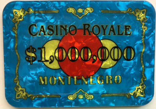 $1.000,000 JAMES BOND CASINO ROYALE POKER PLAQUE