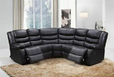 Roma Corner Recliner Leather Sofa