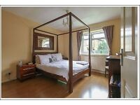 Exquisite 4 poster Lombock double bed, like NEW, real wood, mattress for FREE, price for new £1,500