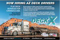 AZ DECK OWNER OPERATORS REQUIRED