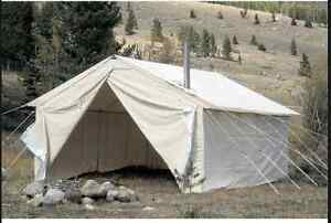 14X16 5 ft Walls Canvas Wall Tent Wanted. Nothing smaller wanted & Wall Tent | Buy or Sell Fishing Camping u0026 Outdoor Equipment in ...