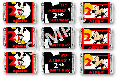 Mickey Mouse Mini Candy Bar Wrappers - Birthday Favors - Set of 84 (Mini Mouse Birthday)