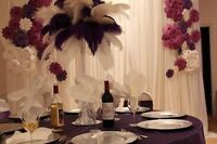 Feather Centerpieces on A Budget