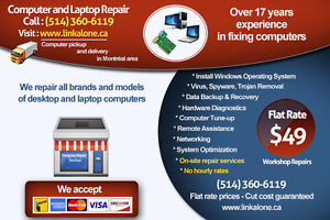 Computer Service, Laptop Repair, PC Repair -  $49.00 Flat Rate