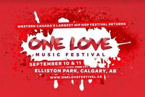 ONE LOVE MUSIC FESTIVAL TICKETS 130 each
