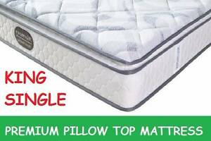 DELIVERED FREE King Single Size PREMIUM Pillow Top Mattress New Farm Brisbane North East Preview