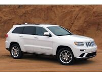White Jeep Grand Cherokee for Wedding Hire only - From £100 - Dare to be Different! Travel in style!