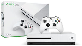 Xbox One S 1TB with two controllers