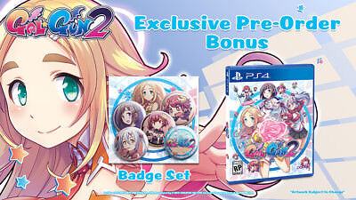 Gal Gun 2   Playstation 4  Ps4   In Stock   Usa Version With Bonus Badges   New