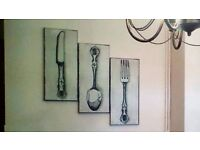 knife fork and spoon canvasses