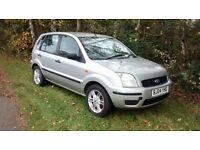 foed fiesta fusion 1.4 petrol 2004 silver alloy wheels 12 months mot