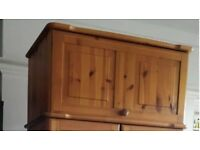Wardrobe top box solid pine