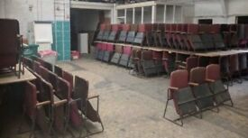 Theatre Seats In Rows Of Three- In Need Of Reupholstery- Lots Available