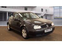 2003 03 Reg Volkswagen Golf 1.6 Match, Petrol, 5 Door, Manual, Hatchback, Metallic Black, Long MOT
