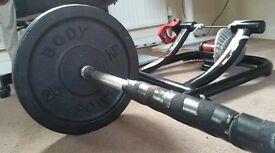 Barbell weight set 2 x 25KG and bar