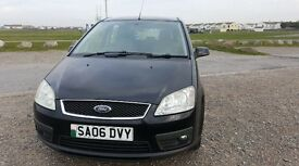 06 FORD C MAX 1.6 ZETEC MEDIUM SIZE MPV ONLY 55K 12 MONTHS MOT IN PANTHER BLACK