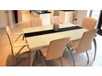 Glass Dining extendable Table