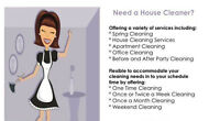 Do you need a young,efficient cleaner? Booking today 25 hr