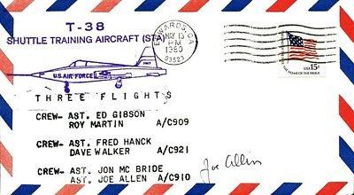 JOE ALLEN Signed T-38 Shuttle Training Aircraft Cover