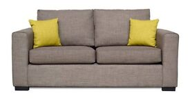 BRAND NEW 2.5 seat sofa (large 2 seater) and cube / footstool, NOW ONLY £299 for the lot.