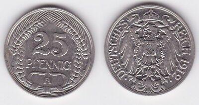 25 Pfennig Nickel Münze Deutsches Reich 1912 A  (117494)