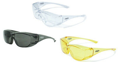 Global Vision Oversite Fit Over Safety Glasses  Riding   Ansi Z87 1 2010