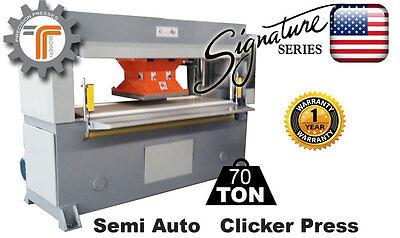 New Cjrtec 70 Ton Traveling Head Clicker Press Hydraulic Die Cutting Machine