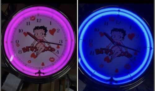 Betty Boop neon clock color changing