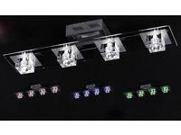 Wofi light fitting spot lights colour changing cube glass